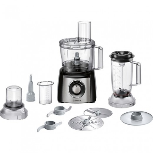 Bosch Food Processor 800W Black/Steel  - delivered by Ali Abdulwahab Sons & Co