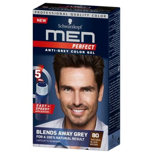 Men Perfect Anti Grey Toner Gel 80 Brown Black 115 ml