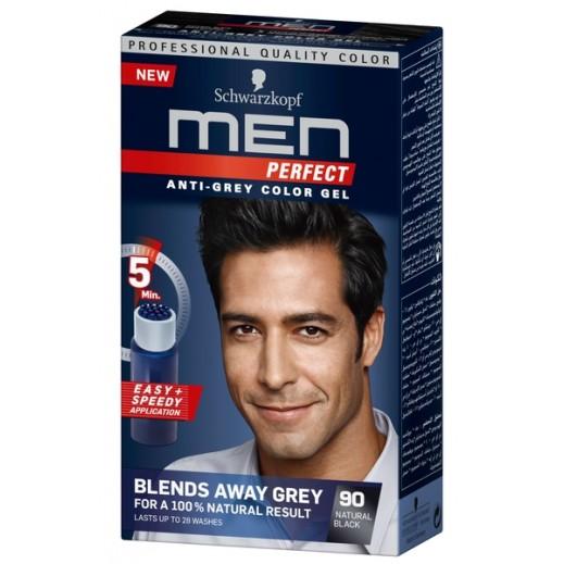 Men Perfect Anti Grey Toner Gel 90 Black 115 ml