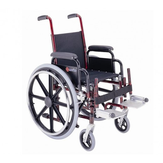 Merits Pediatric Steel Wheelchair 14 inch Solid Tyres - delivered by Al Essa After 2 working Days