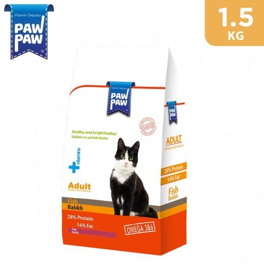 Paw Paw Adult Cat Food Fish 1.5 kg