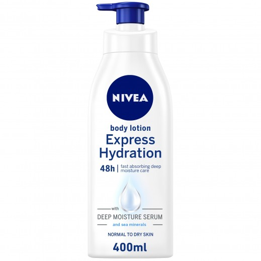 NIVEA Express Hydration Body Lotion, Sea Minerals, Normal to Dry Skin, 400ml