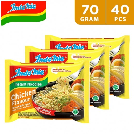 Indomie Instant Noodles Chicken Flavor 5 x 70 g (8 Packs)