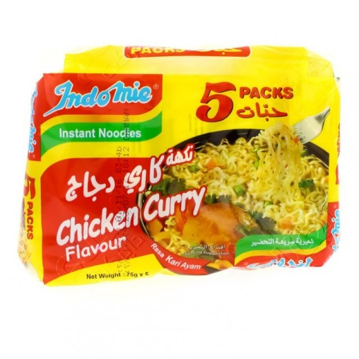 Indomie Chicken Curry Noodles 5 x 75 g