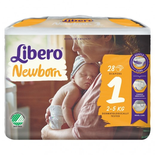 Libero Newborn Soft Stage 1 Diaper (2-5 kg) 28 pieces