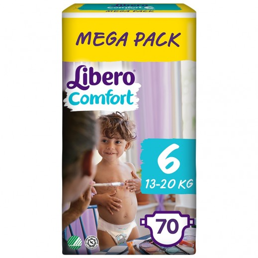 Libero Comfort Fit Diapers Size 6 (13 - 20 kg) Mega Pack 70 Pieces