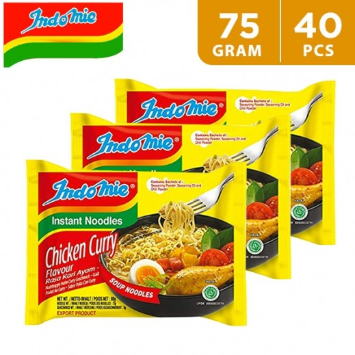 Indomie Chicken Curry Noodles 5 x 75 g (8 Packs)