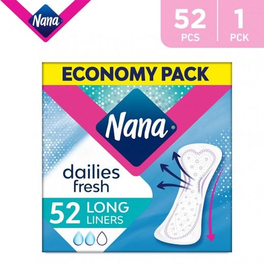 Nana Daily Fresh Panty Liners Long Economy Pack 2 x 26 Pads