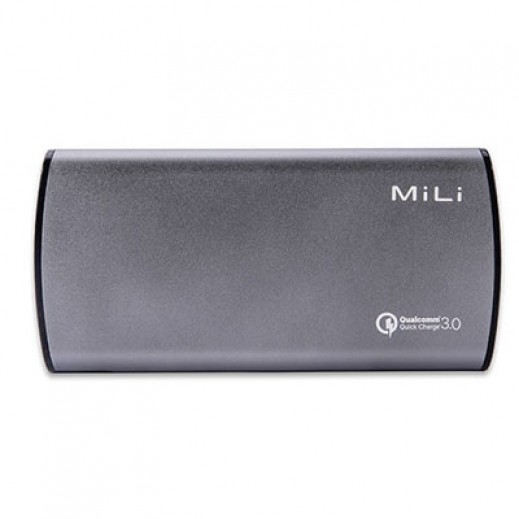 MiLi Power Bank 8,000 mAh - Grey