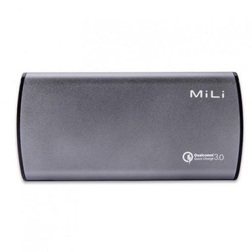 MiLi Power Bank 10,000 mAh - Gray