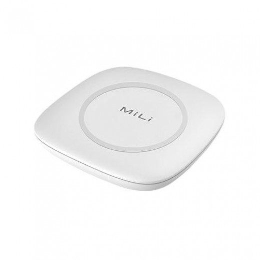 MiLi Wireless Charger 7.5W With Built-in Power Bank 4,700 mAh - White