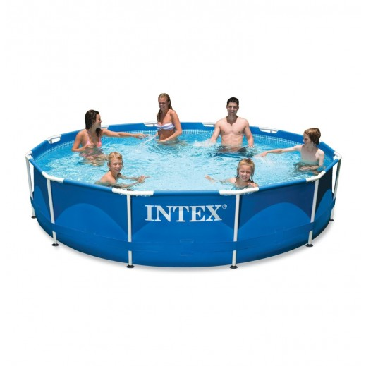 Intex Metal Frame Pool Set (366x76cm) - delivered by Safari House Within 2 Working Days