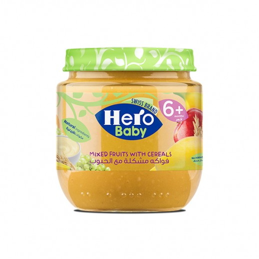 Hero Baby Food Jar - Mixed Fruits Cereals 125 gm