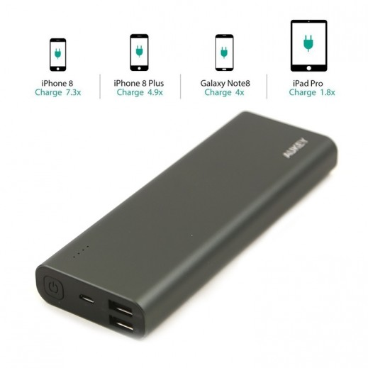 Aukey 20,100mAh Quick Charge 3.0 Power Bank Metal Black