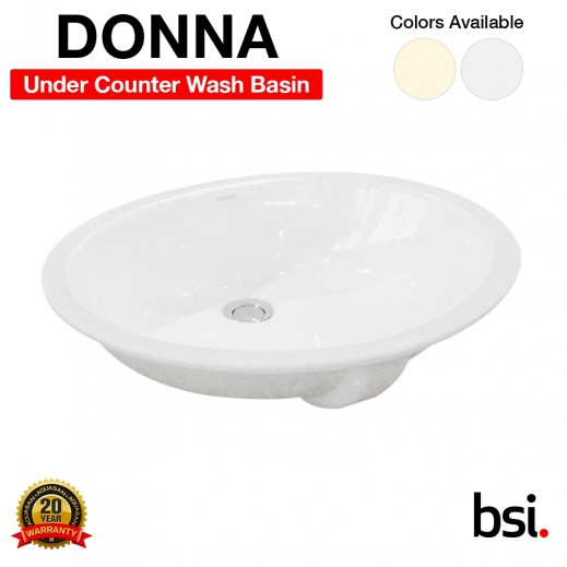 Aquasan Donna Under Counter Wash Basin With or Without Mixer  - delivered by Aquasan After 3 Working Days
