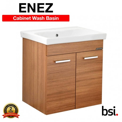 Aquasan Orka Enez Wash Basin & Cabinet with & without Mixer - delivered by Aquasan After 3 Working Days