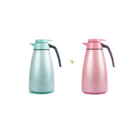 Penguen Thermos Green 1.9 L + Thermos Pink 1.9 L Free