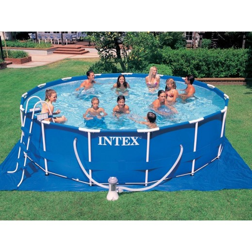 Intex Metal Frame Round Pools (549x122cm) - delivered by Safari House Within 2 Working Days