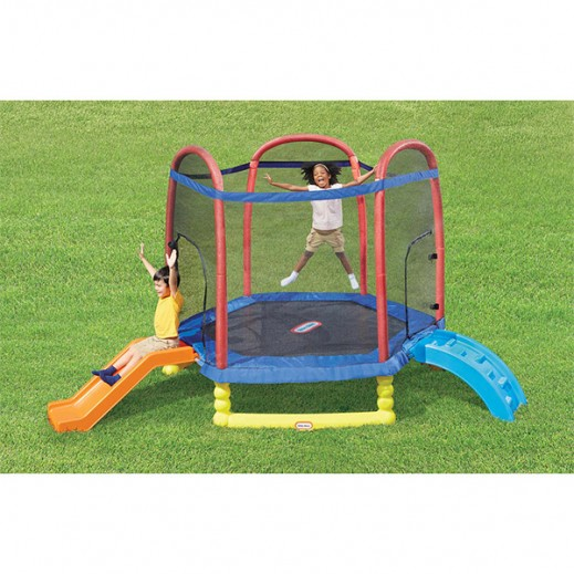 Little Tikes 7 Foot Trampoline >> Buy Little Tikes 7 foot Climb n Slide Trampoline - delivered by Safari House Within 2 Working ...