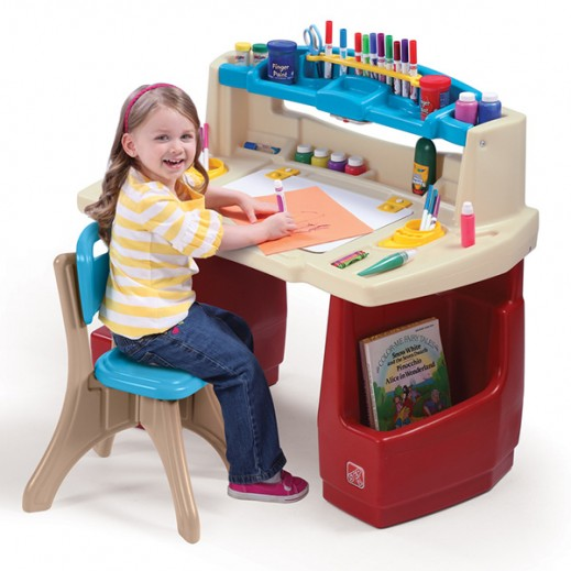 STEP2 Deluxe Art Master Desk  - delivered by Shahaleel Within 2 Working Days