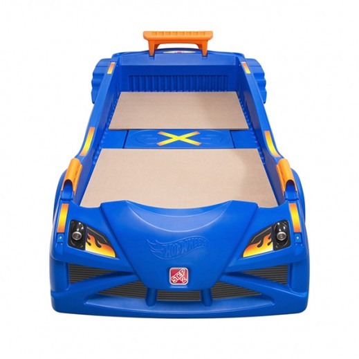 STEP2 Hot Wheels Toddler-to-Twin Race Car Bed  - delivered by Shahaleel Within 2 Working Days