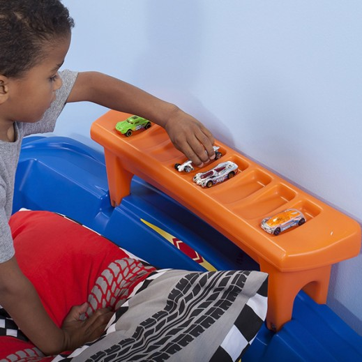 buy step2 hot wheels toddler-to-twin race car bed - delivered