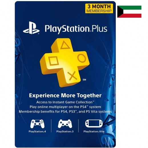 PlayStation Plus 3 Months Membership - Kuwait (Email Delivery)