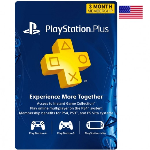 PlayStation Plus 3 Months Membership - US (Email Delivery)