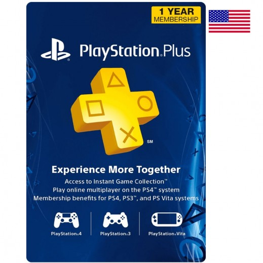 PlayStation Plus 1 Year Membership US - (Email Delivery)