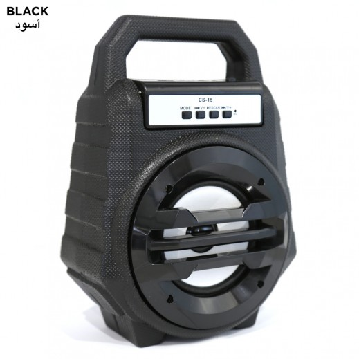 JHW CS-15 Portable Bluetooth Speaker - Black