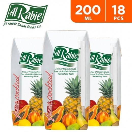 Al Rabie Fruit Cocktail Nectar Juice 200 ml (18 Pieces)