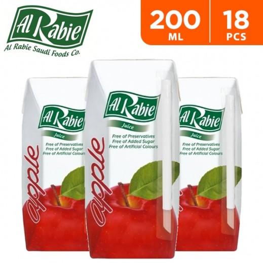 Al Rabie Apple Nectar Juice 200 ml (18 Pieces)