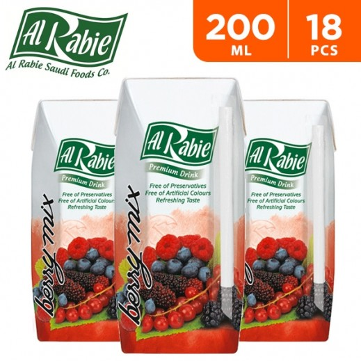 Al Rabie Berry Mix Juice 200 ml (18 Pieces)