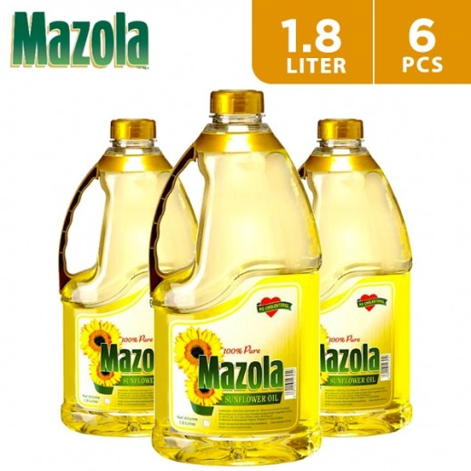 Mazola Sunflower Cooking Oil 6 x 1.8 L