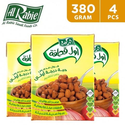 Al Rabie Awal Qatfa Cooked Fava Premium Beans 4 x 380 g