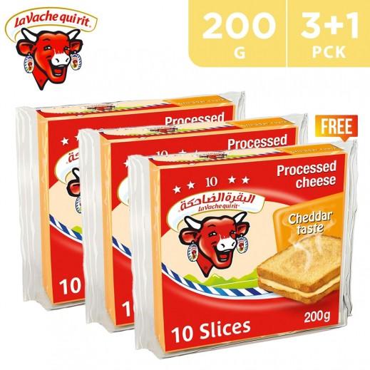 La Vache Qui Rit Cheddar 10 Cheese Slices 200 g (3 + 1 Free)