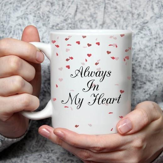 Sentence on Mug (Hearts Design) - MU046 - delivered by Berwaz.com
