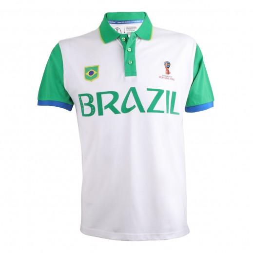 Fifa World Cup Russia 2018 Men Brazil Polo T-Shirt Small-XXLarge