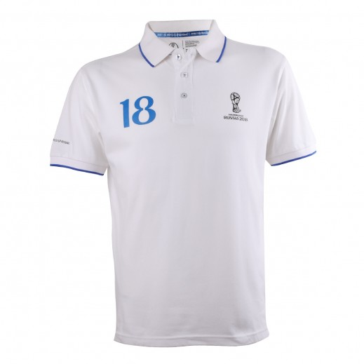 Fifa World Cup Russia 2018 Men Generic Polo T-Shirt  White Small-XXLarge