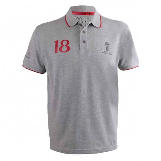 Fifa World Cup Russia 2018 Men Generic Polo T-Shirt Grey Melan Small-XXLarge
