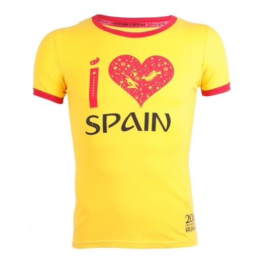 Fifa World Cup Russia 2018 Ladies Spain T-shirt Small-XXLarge
