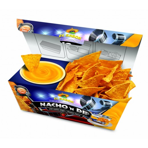 El Sabor Movie Time Chili Nacho Chips & Cheese Sauce 175 g