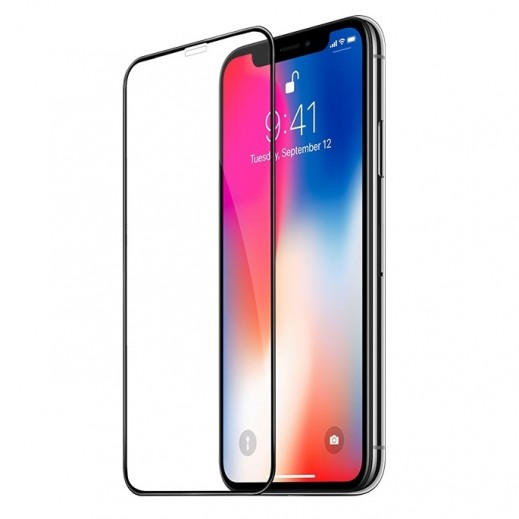 Devia Non-border Series 3D Curved Full Screen Tempered Glass for iPhone X-Black