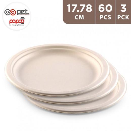 Papco Eco Friendly Round Plates 20 Pieces 17.78 cm  ( 3 Packs )