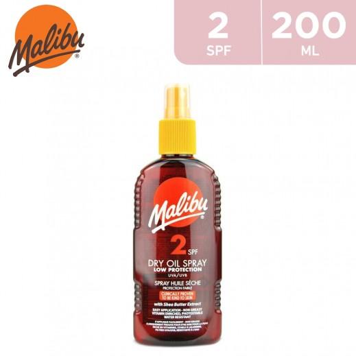 Malibu SPF2 Low Protection Dry Oil Spray 200 ml