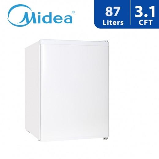 Midea Single Door Refrigerator 87L 3.1Cft -White