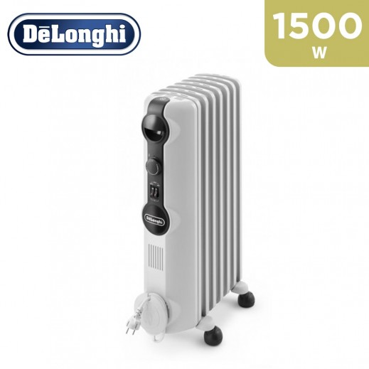 Delonghi 1500 W 7 Fins Oil Heater - White