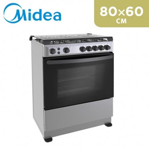 Midea 4 Burner Gas Cooker 80×60 CM - delivered by  AL-YOUSIFI after 3 Working Days
