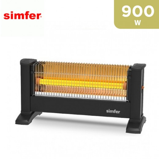 Simfer 900W Quartz Heatr infrared - Black