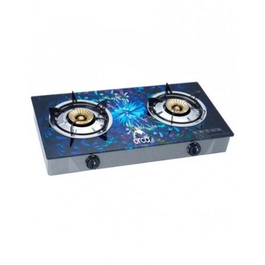 Orca TableTop-2 Burner-Glass Panel-Copper